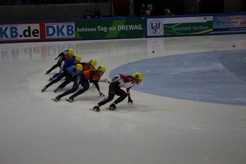 Shorttrack-Europameisterschaft in Dresden