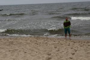 Die Ostsee empfängt uns mit rauem Wetter
