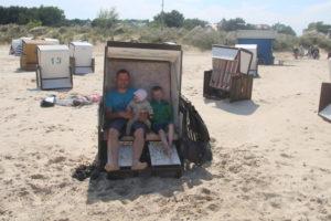 Am Strand in Karlshagen - verdiente Pause