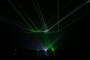 Lasershow in der Phänomenta